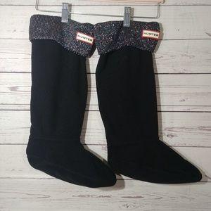 NWOB Hunter Metallic Knee High Boot Socks sz M